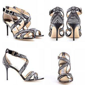 Jimmy Choo Louise Leather Heels - 38/US 8